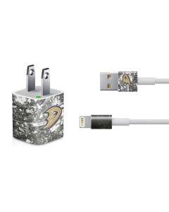 Anaheim Ducks Frozen iPhone Charger (5W USB) Skin