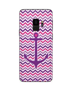 Anchor of Love- Pink Galaxy S9 Skin
