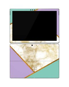 Angled Marble Surface Pro 7 Skin