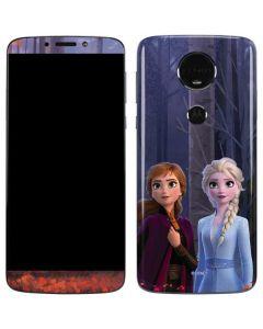 Anna and Elsa Moto E5 Plus Skin