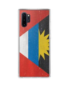 Antigua and Barbuda Flag Distressed Galaxy Note 10 Plus Clear Case