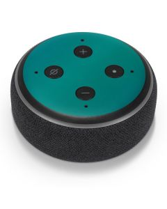 Aqua Blue Chameleon Amazon Echo Dot Skin