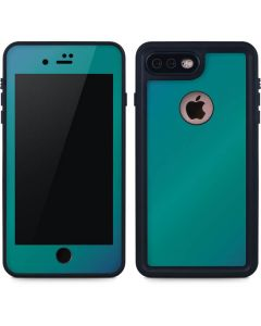 Aqua Blue Chameleon iPhone 8 Plus Waterproof Case