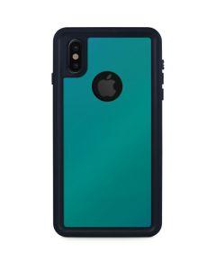Aqua Blue Chameleon iPhone XS Waterproof Case