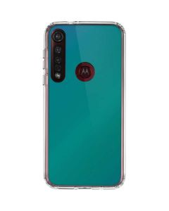 Aqua Blue Chameleon Moto G8 Plus Clear Case
