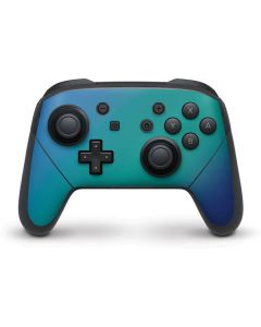 Aqua Blue Chameleon Nintendo Switch Pro Controller Skin