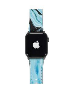 Aqua Blue Marble Ink Apple Watch Band 42-44mm