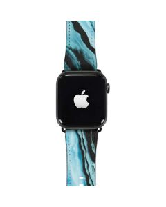 Aqua Blue Marble Ink Apple Watch Case
