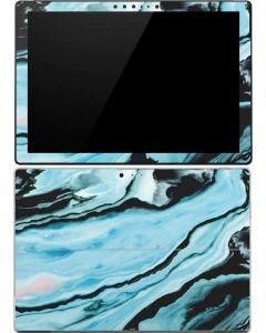 Aqua Blue Marble Ink Surface Pro (2017) Skin
