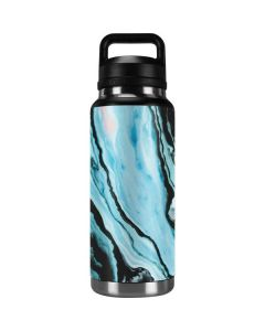 Aqua Blue Marble Ink YETI Rambler 36oz Bottle Skin