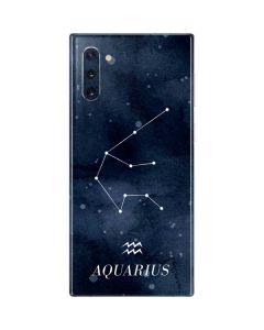 Aquarius Constellation Galaxy Note 10 Skin