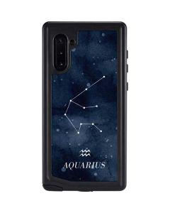 Aquarius Constellation Galaxy Note 10 Waterproof Case