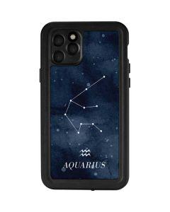 Aquarius Constellation iPhone 11 Pro Waterproof Case