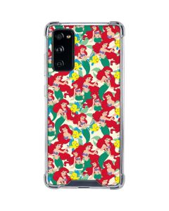 Ariel and Flounder Pattern Galaxy S20 FE Clear Case