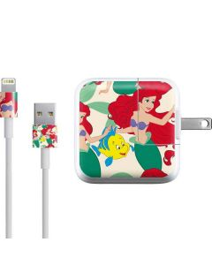 Ariel and Flounder Pattern iPad Charger (10W USB) Skin
