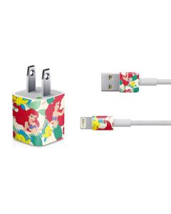 Ariel and Flounder Pattern iPhone Charger (5W USB) Skin