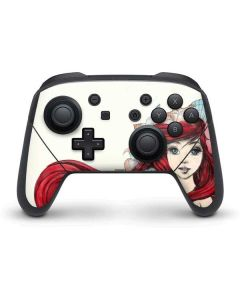 Ariel Illustration Nintendo Switch Pro Controller Skin