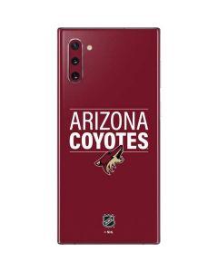 Arizona Coyotes Lineup Galaxy Note 10 Skin