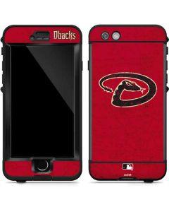 Arizona Diamondbacks - Secondary Solid Distressed LifeProof Nuud iPhone Skin