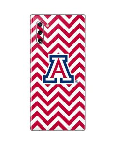 Arizona Wildcats Chevron Print Galaxy Note 10 Skin