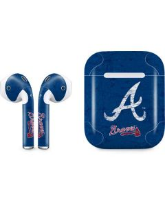 Atlanta Braves - Solid Distressed Apple AirPods Skin
