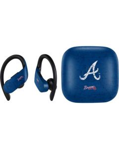 Atlanta Braves - Solid Distressed PowerBeats Pro Skin
