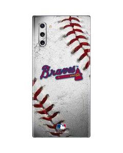 Atlanta Braves Game Ball Galaxy Note 10 Skin
