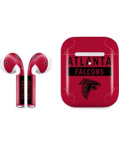 Atlanta Falcons Red Performance Series Apple AirPods 2 Skin