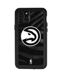 Atlanta Hawks Black Animal Print iPhone 11 Pro Waterproof Case