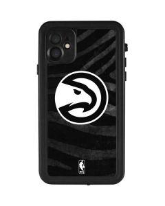 Atlanta Hawks Black Animal Print iPhone 11 Waterproof Case