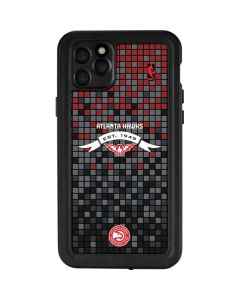 Atlanta Hawks Pixels iPhone 11 Pro Max Waterproof Case