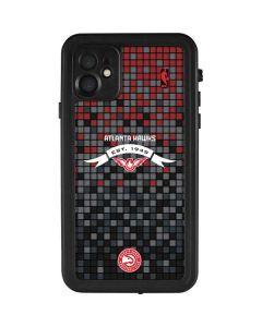 Atlanta Hawks Pixels iPhone 11 Waterproof Case