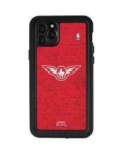 Atlanta Hawks Red Distressed iPhone 11 Pro Max Waterproof Case