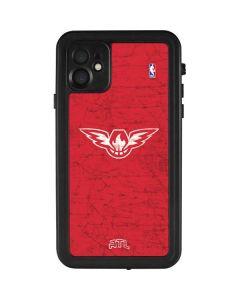 Atlanta Hawks Red Distressed iPhone 11 Waterproof Case