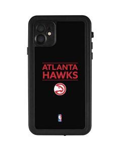 Atlanta Hawks Standard - Black iPhone 11 Waterproof Case