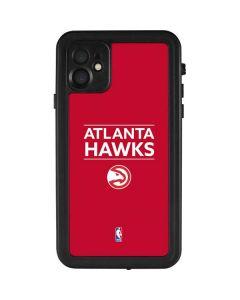 Atlanta Hawks Standard - Red iPhone 11 Waterproof Case