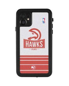 Atlanta Hawks Static iPhone 11 Waterproof Case