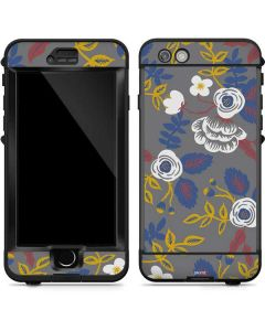 Autumn Grey Floral LifeProof Nuud iPhone Skin