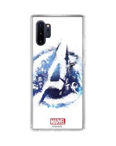 Avengers Blue Logo Galaxy Note 10 Plus Clear Case