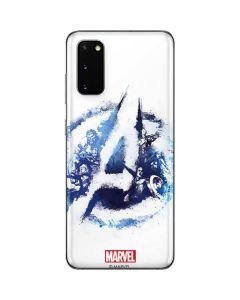 Avengers Blue Logo Galaxy S20 Skin