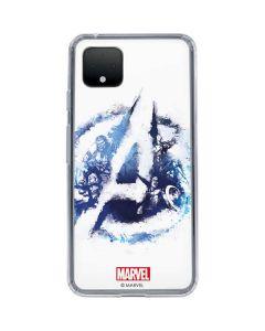 Avengers Blue Logo Google Pixel 4 Clear Case