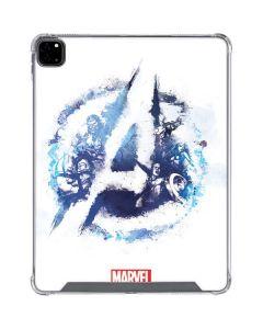 Avengers Blue Logo iPad Pro 12.9in (2020) Clear Case