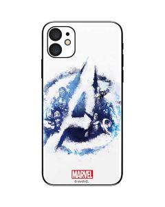 Avengers Blue Logo iPhone 11 Skin