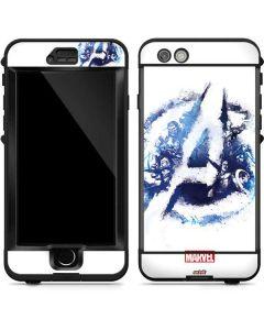 Avengers Blue Logo LifeProof Nuud iPhone Skin