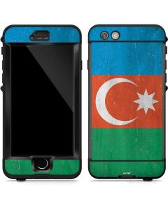 Azerbaijan Flag Distressed LifeProof Nuud iPhone Skin