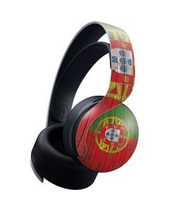 Portuguese Flag Dark Wood PULSE 3D Wireless Headset for PS5 Skin