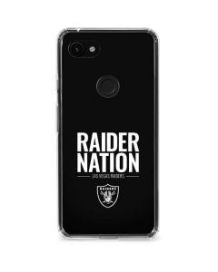 Las Vegas Raiders Team Motto Google Pixel 3a XL Clear Case