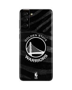 Golden State Warriors Black Animal Print Galaxy S21 Plus 5G Skin