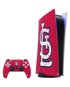 St. Louis Cardinals - Solid Distressed PS5 Digital Edition Bundle Skin
