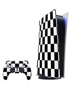 Black and White Checkered PS5 Digital Edition Bundle Skin